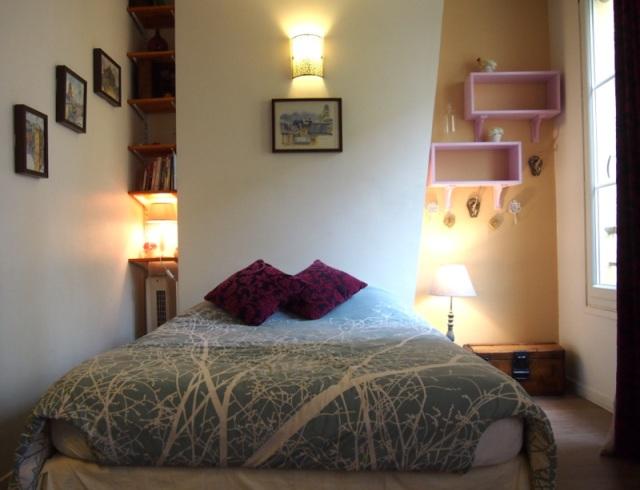 散步巴黎民宿優質的雙人床