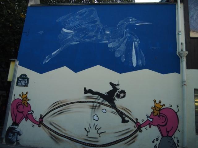 街頭藝術家 13區的街頭作品