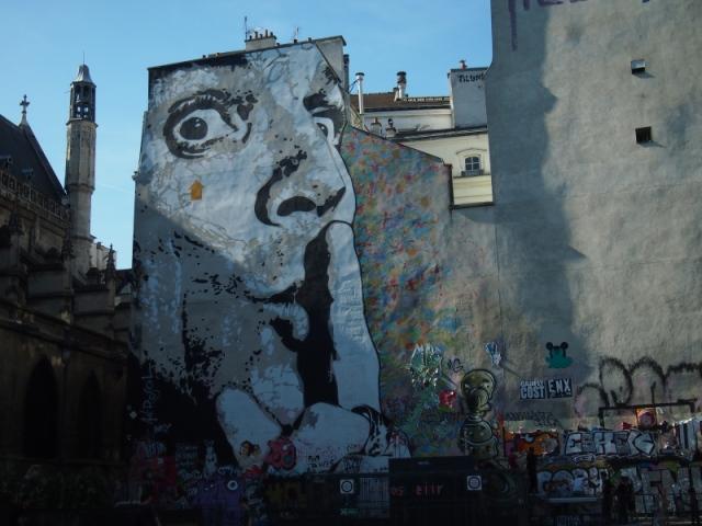 散步巴黎民宿 & Jef Aerosol 街頭藝術畫家