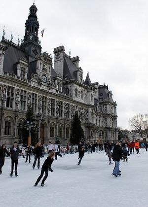 散步巴黎民宿  § 巴黎市政府的冬季溜冰場