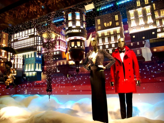 散步巴黎民宿§ 春天百貨2014聖誕櫥窗