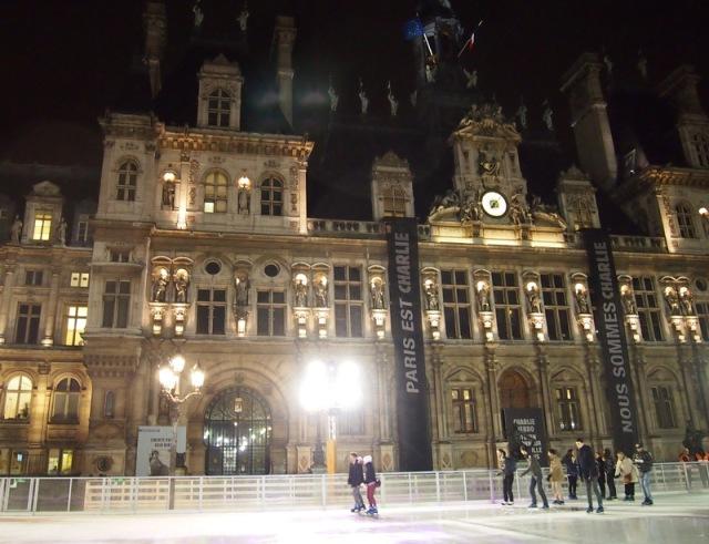巴黎市政府前露天溜冰場§ 散步巴黎民宿