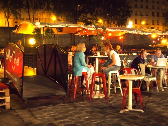 巴黎船酒吧Péniche bar